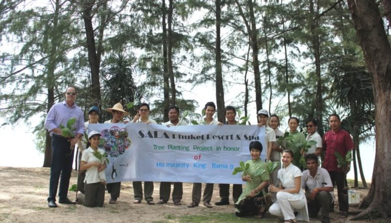 Tree Planting Commemorates the Late King of Thailand
